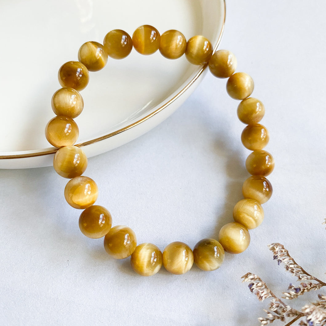 Gold Tiger's Eye 8mm Bracelet