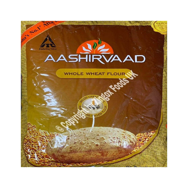 Aashirvaad Whole Wheat Atta 5kg - Zingox Foods UK
