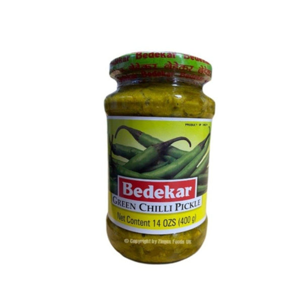 Bedekar Green Chill Pickle 400g - Zingox Foods UK