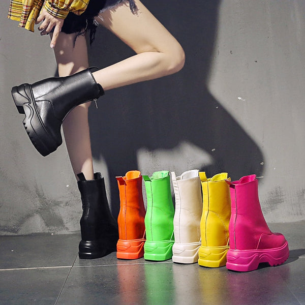 Women's Ankle Boots Candy Color