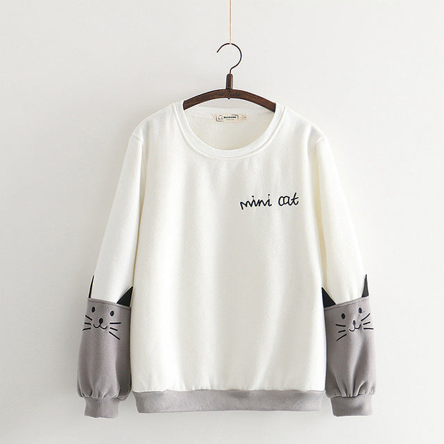 Women Hoodies Sweatshirt Casual O-neck