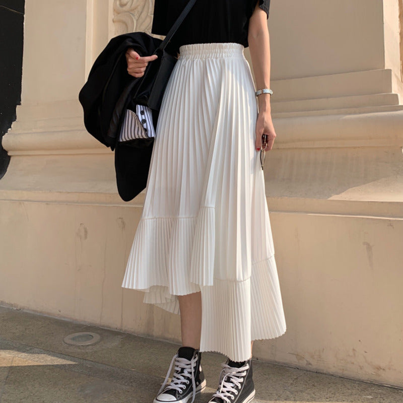 Irregular Pleats Woman Skirt-This2That.com -This 2 That