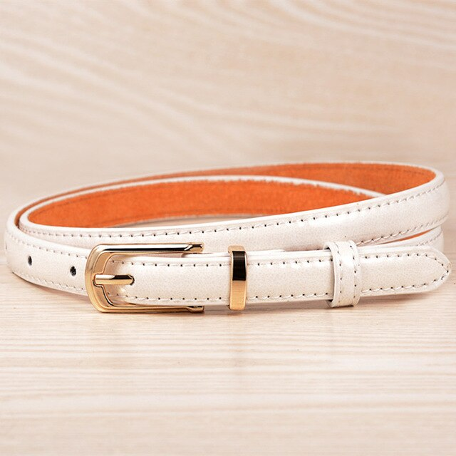 Rushed Paint Leather Belts For Women