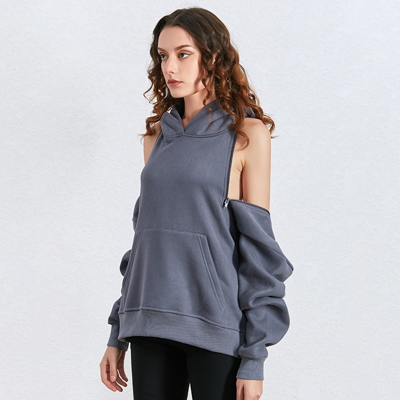 Black Casual Hollow Out Sweatshirt