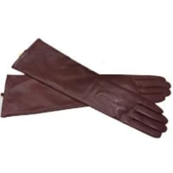 Leather Gloves Genuine Mittens Long Sleeve