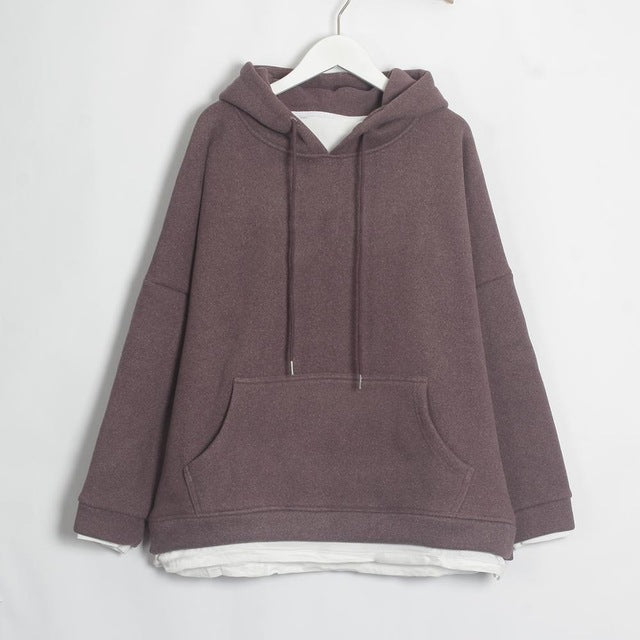 Women Casual Sweatshirts Warm Velvet