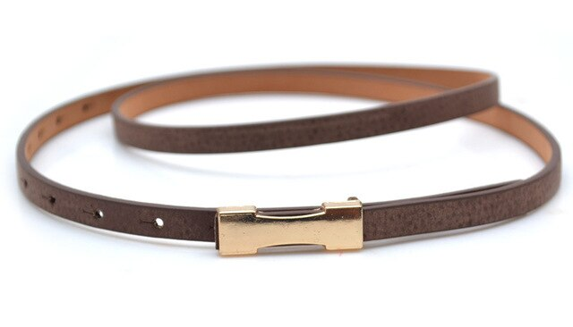 Women Slim Belts  Casual Leather