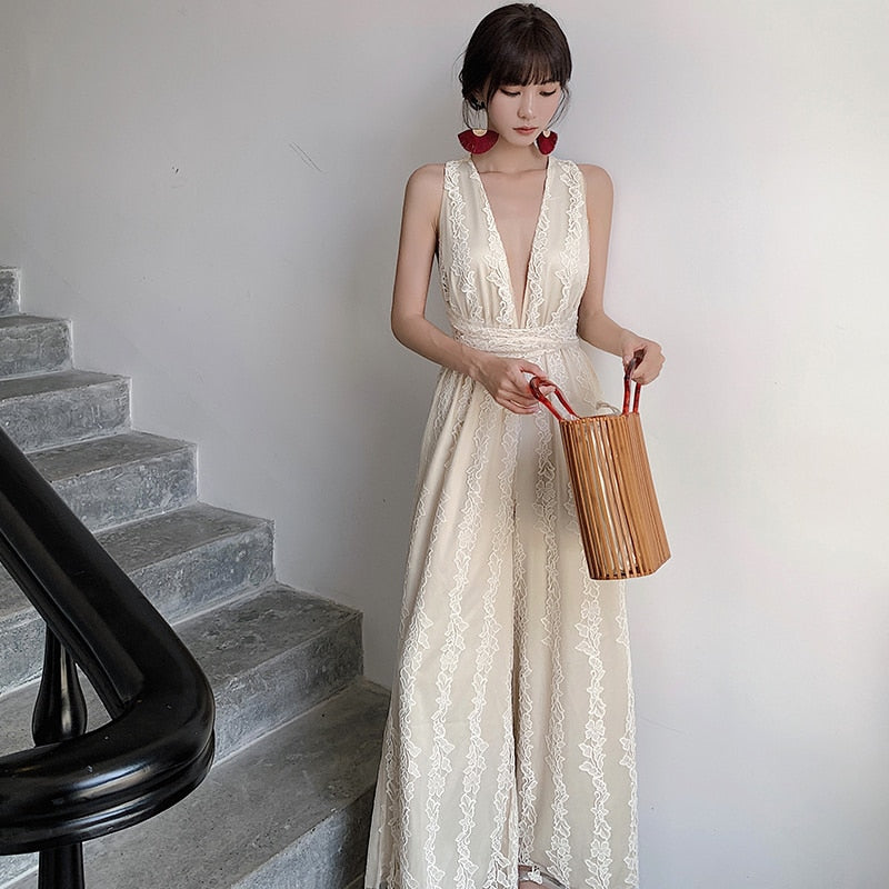 Elegant Lace jumpsuit Women