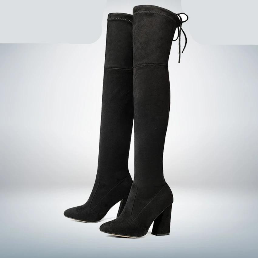 Leather Women Over The Knee Boots