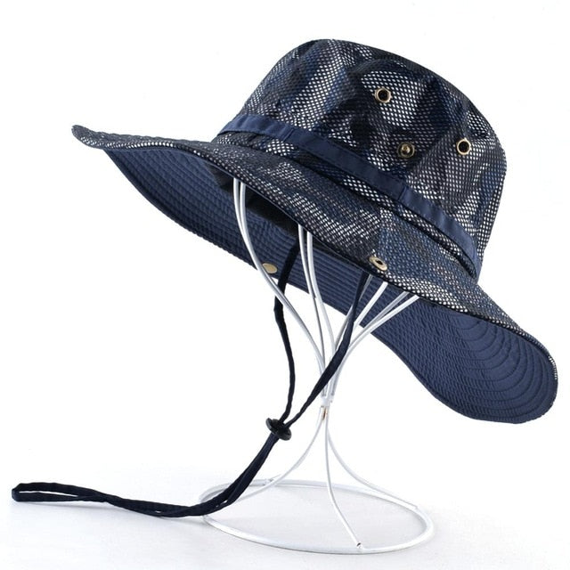 Solid Color Outdoor Wide Brim Anti-UV Hat
