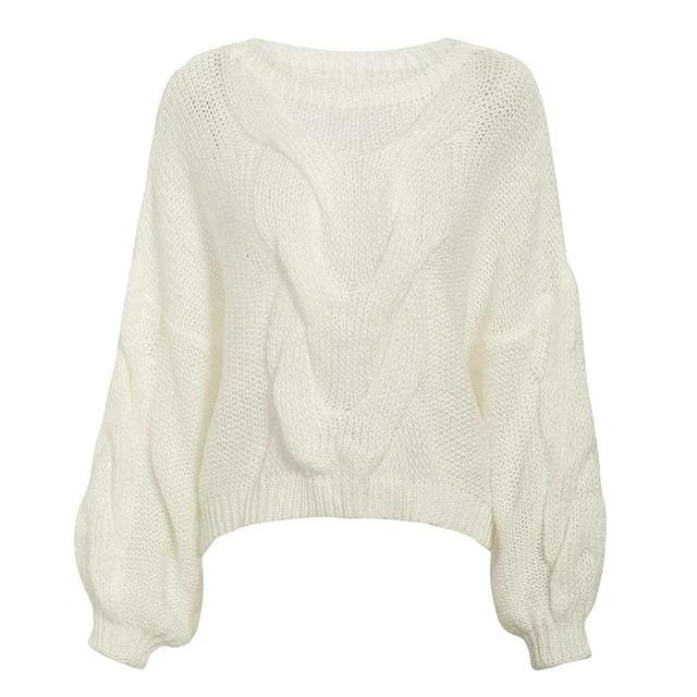 Hollow Out Women Pullover Sweater