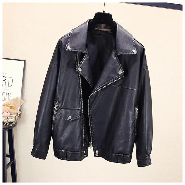 Faux Pu Leather Jacket For Women