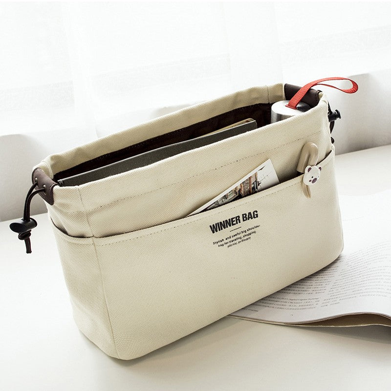 Canvas Purse Organizer Bag With Compartments-This 2 That-This 2 That