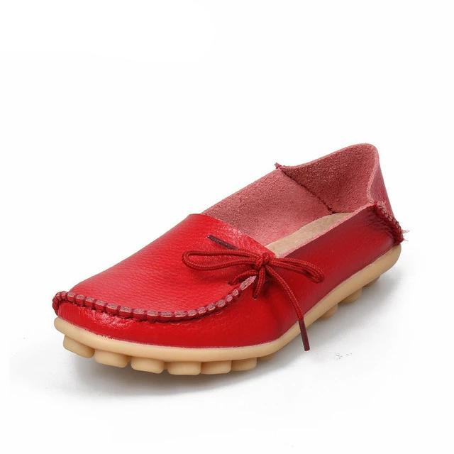 Woman Loafers Genuine Leather Female Shoes