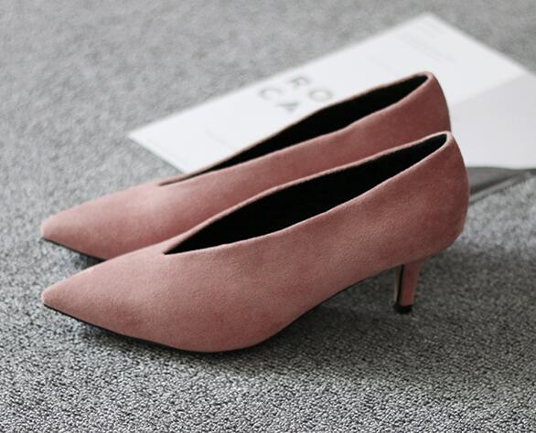 Pointed Toe Girl Thin Heel Woman