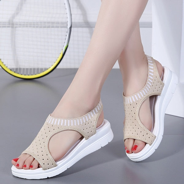 Slip-on Flat Ladies Sandals