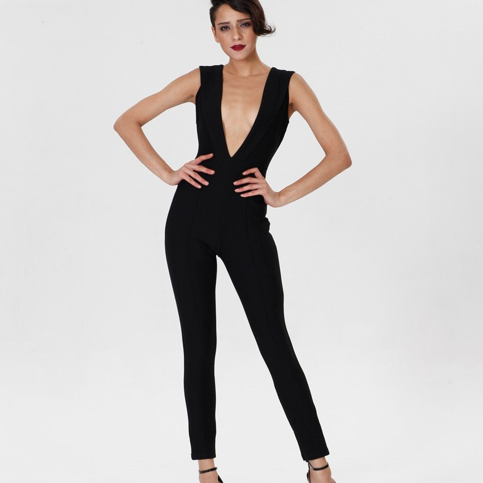 Sexy Black Bodycon Jumpsuit