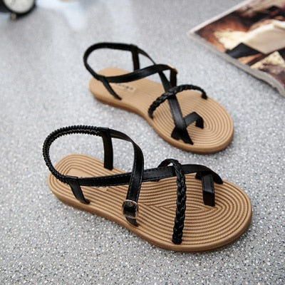 Shoes For Woman Sandals Elastic Flat