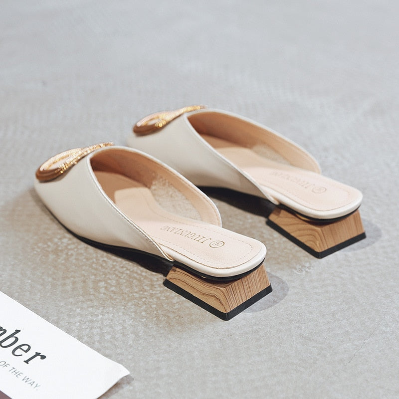 Women Pumps Slippers Slip on Mules