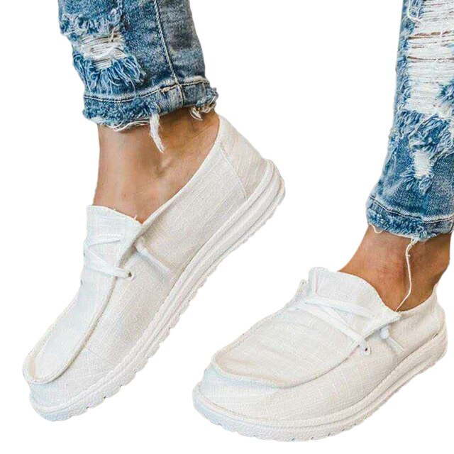 Women Flats Summer Breathable Casual Shoes Ladies Lace Up Students Girl Flats Heigh Quality Women Flats Plus Size