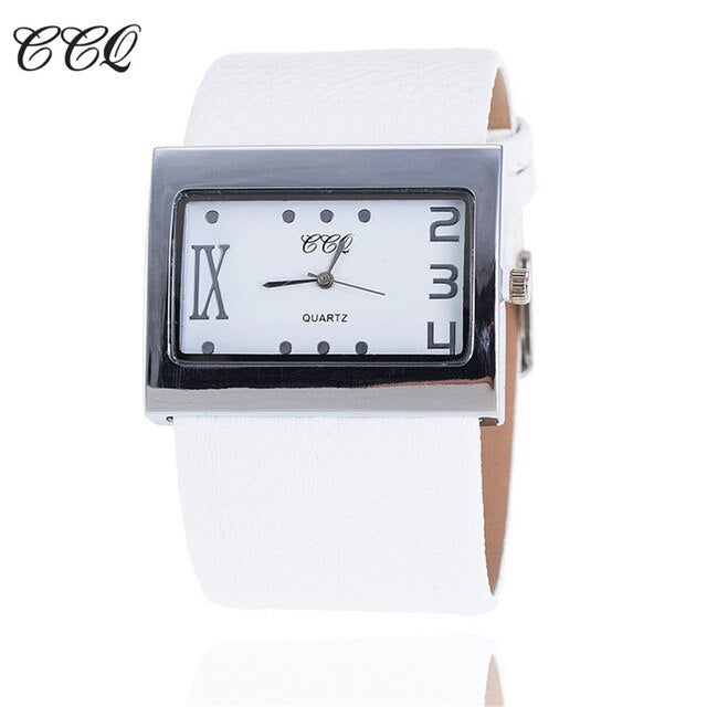 CCQ Brand Fashion Leather Strap Watch Ladies Women Dress Watch Luxury Casual Quartz Watch Relogios Feminino 1859