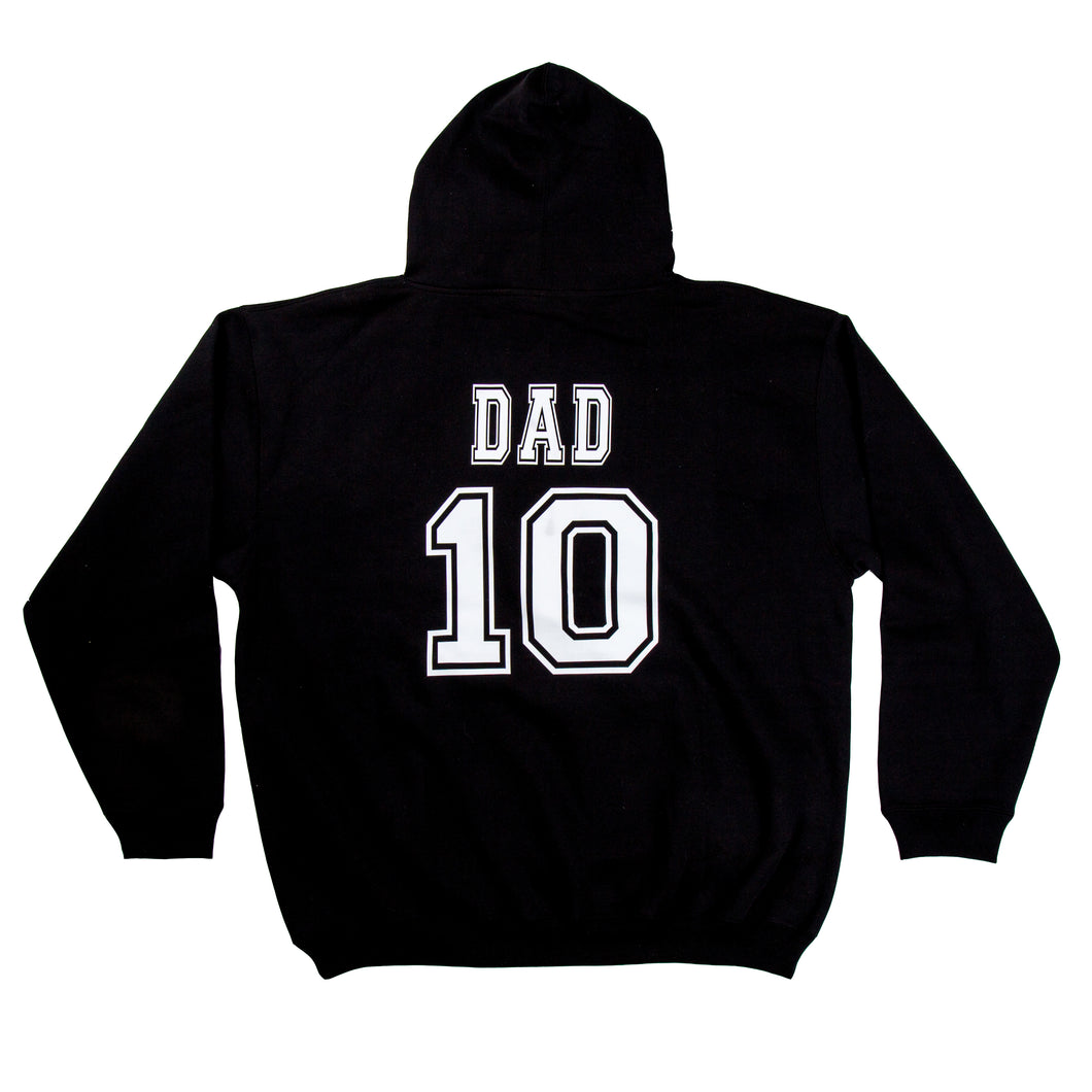Mens Custom College Hoodie - BLACK