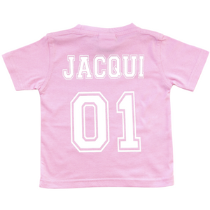 Infants/Kids Custom College Tee - PALE PINK