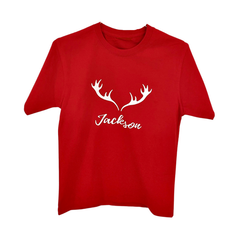 Red  Adult Custom Christmas Tee