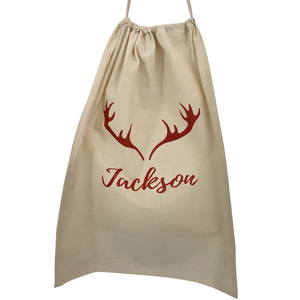Personalised Santa Sack - Red Reindeer Ears