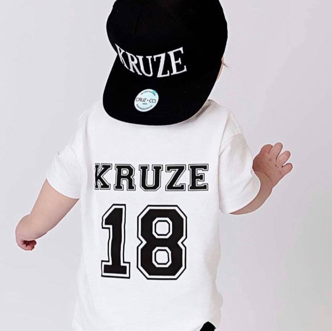 Infants/Kids Custom College Tee - WHITE