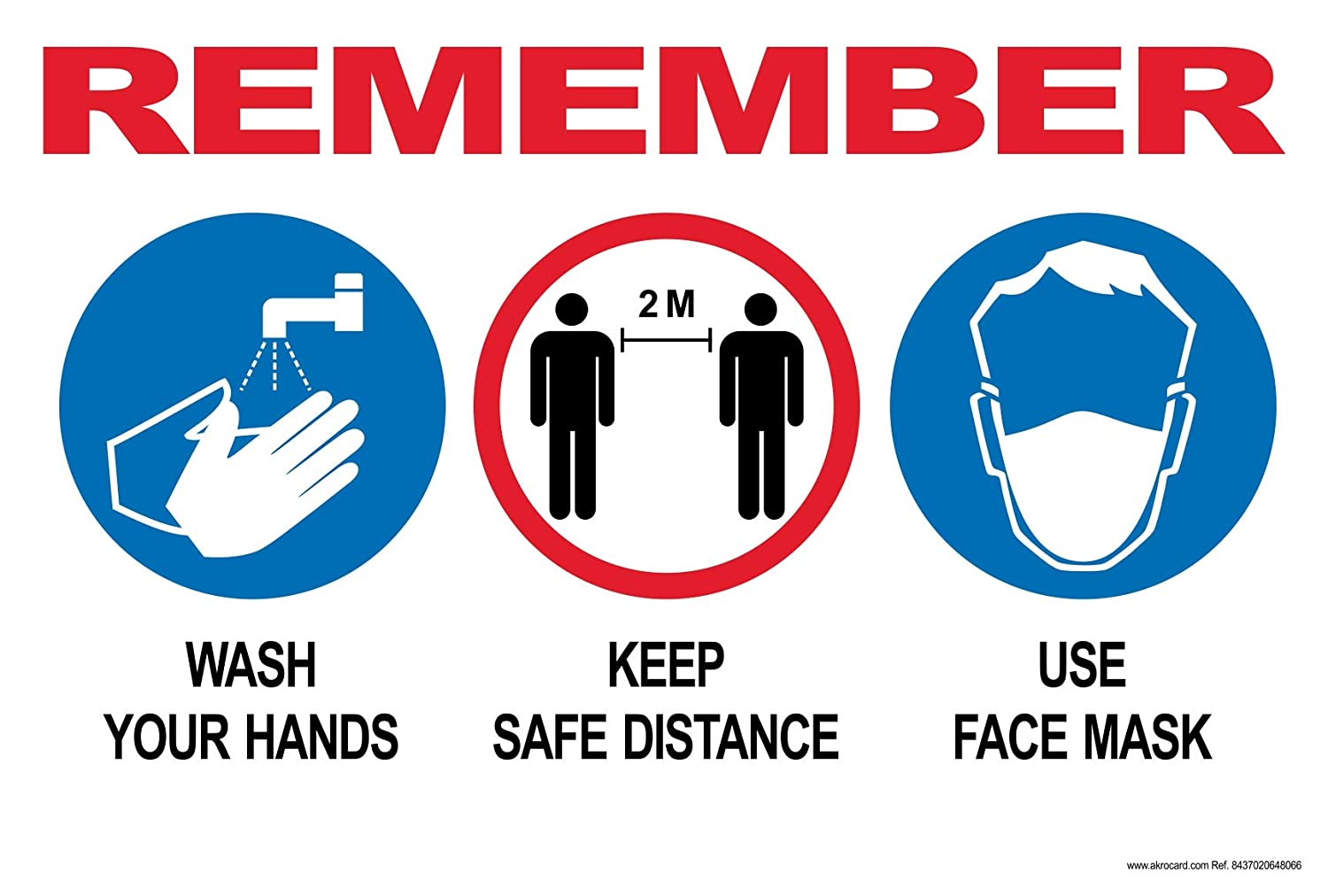 PVC SIGN- REMEMBER basic protective measures