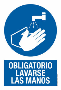 PVC SIGN-OBLIGATORIO LAVARSE LAS MANOS