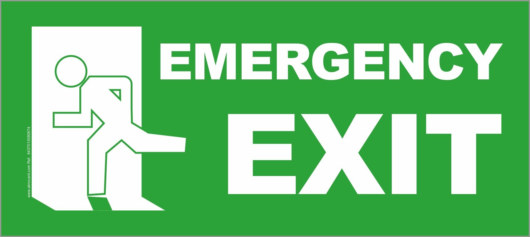 PVC SIGN- EMERGENCY EXIT