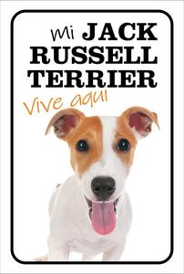 PVC SIGN-MY ??? Lives HERE (Jack Russell)