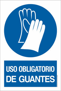 PVC SIGN-Uso obligatorio de guantes