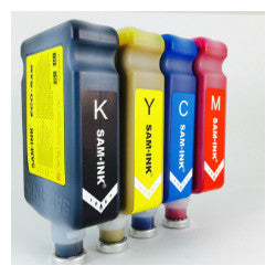 SAM★INK® autofill 500ml eco-ultra black, cyan, magenta, red, yellow.