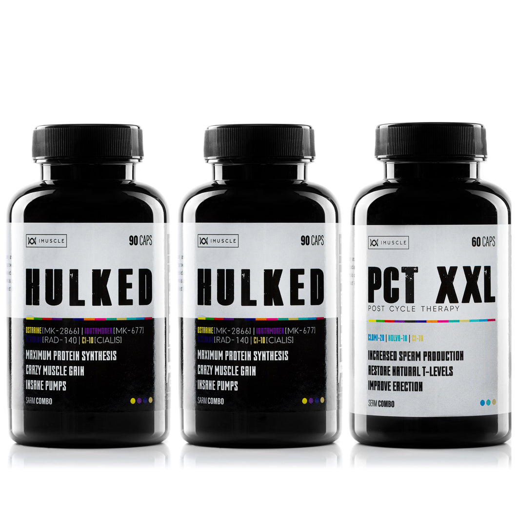 -50% OFF iMuscle STACK HULKED x2 , PCT – XXL