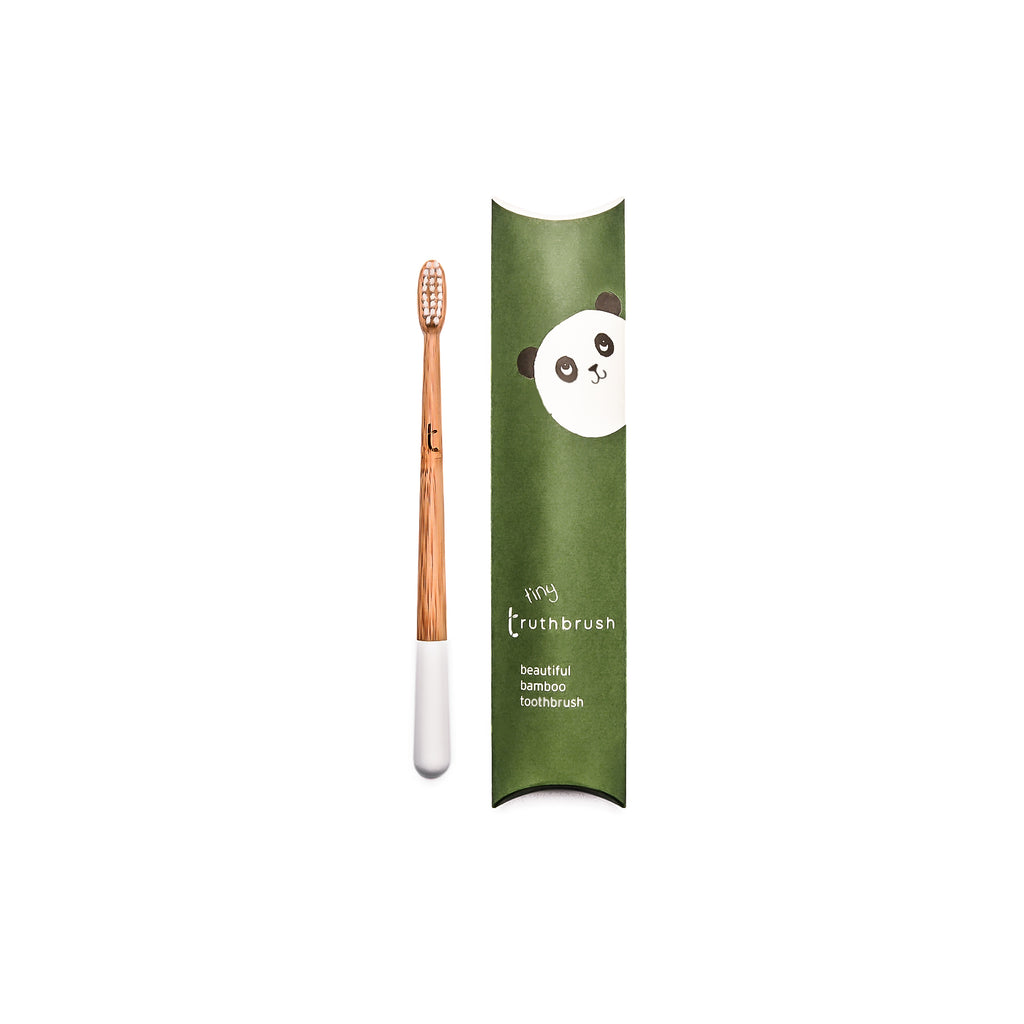 Truthbrush Tiny Bamboo Toothbrush for children - Cloud White