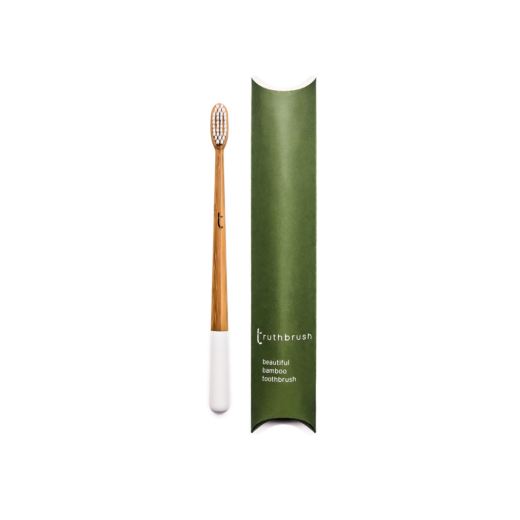 Truthbrush Cloud White MEDIUM Bamboo Toothbrush                            Subscription