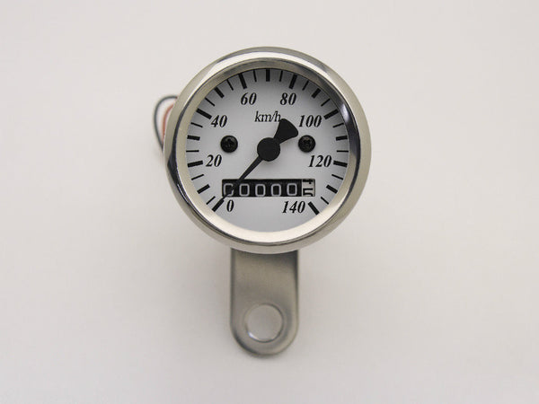 Speedo, 48mm, White Face, Polished Body, 140KPH