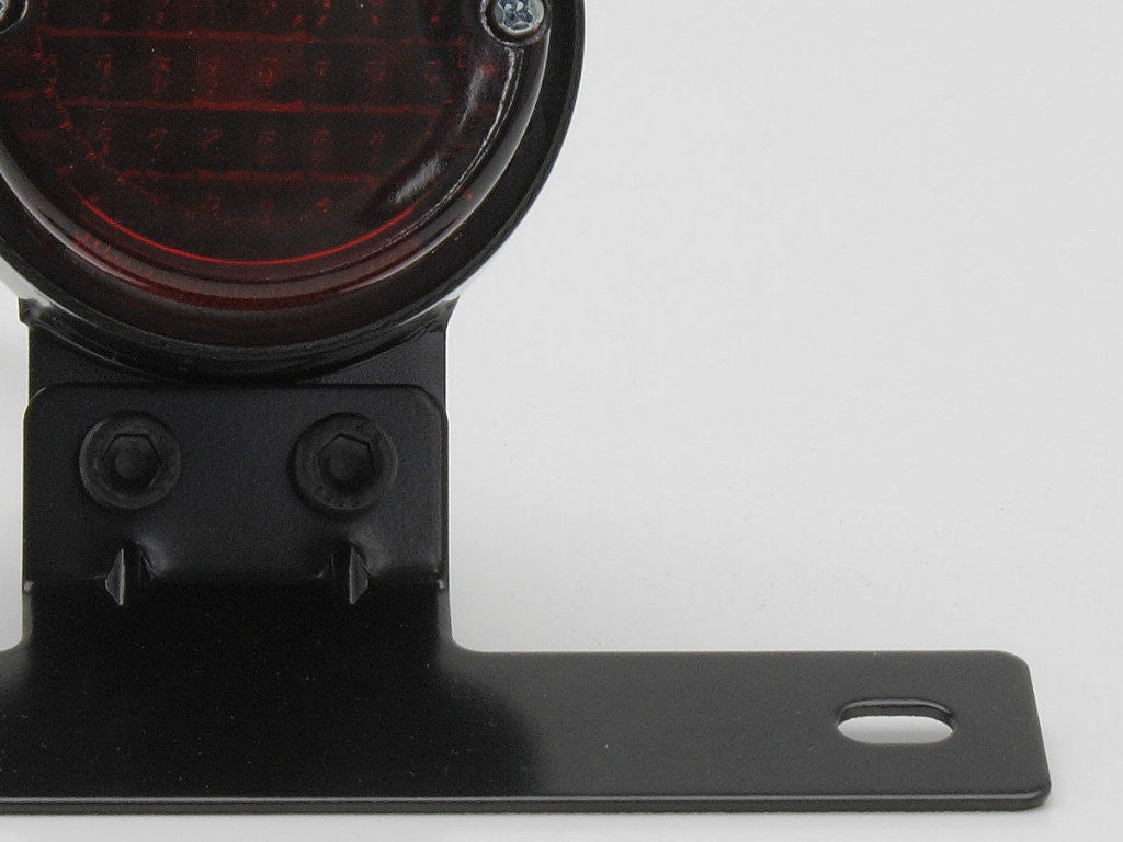 Tail Light, Round, Black