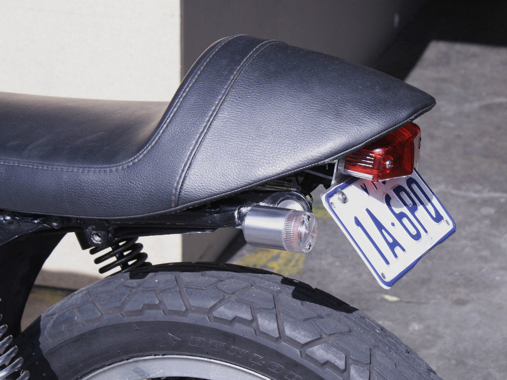 Tail Light, 525 Lucas-Style with Number Plate Bracket