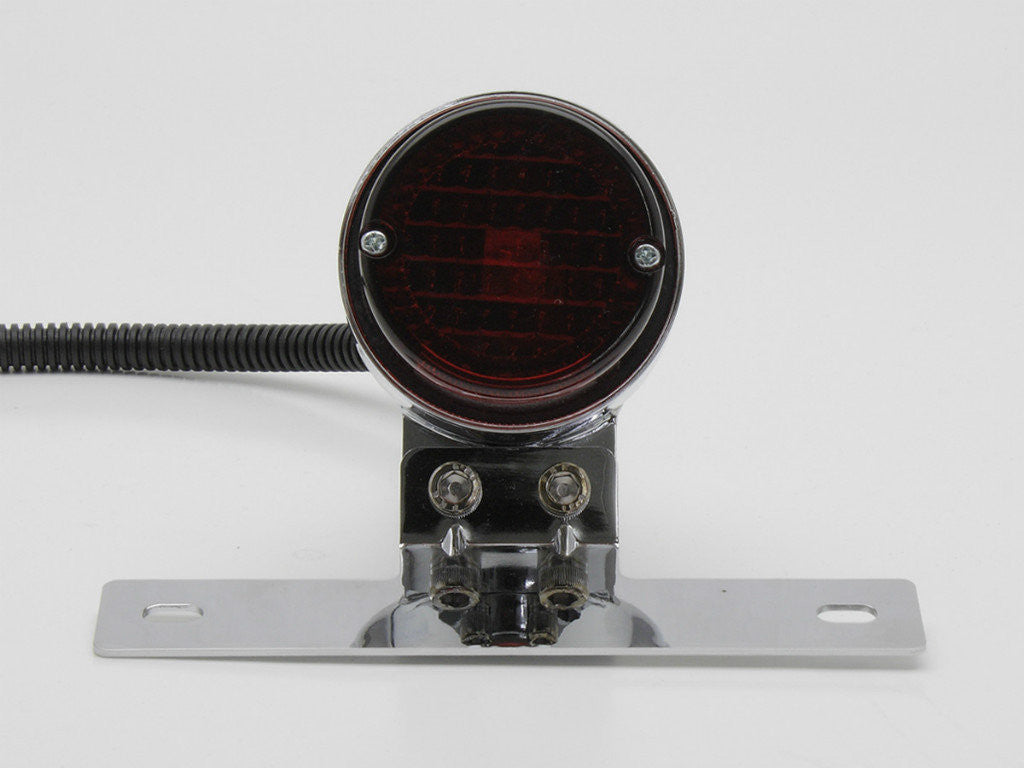 Tail Light, Round, Chrome