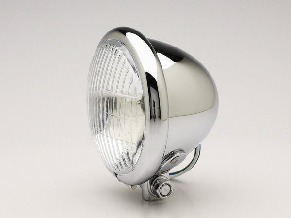 "Headlight, 4.5"" Bottom-mount, Chrome"