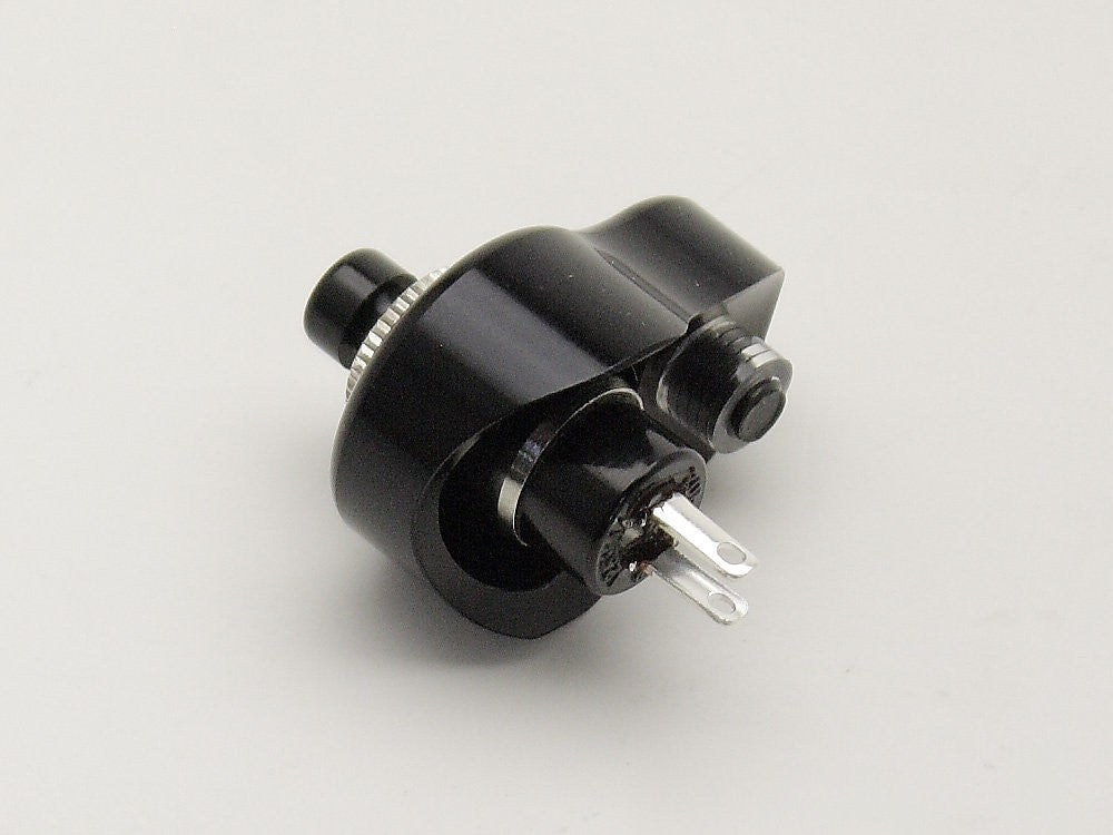 Switch Block, Black with Push Button