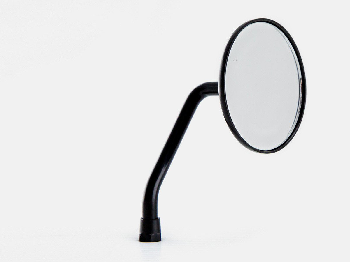 "Mirror, 3.5"" Round, Black, Short Arm, Right"