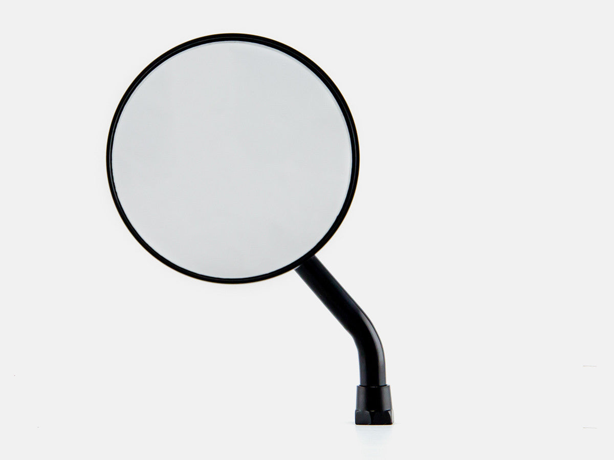 "Mirror, 3.5"" Round, Black, Short Arm, Left"