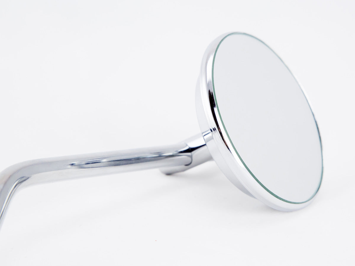 "Mirror, 3"" Round, Chrome, Universal"