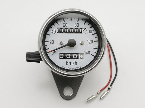 Speedo, 60mm, White Face, Polished Body, Bulb-lit