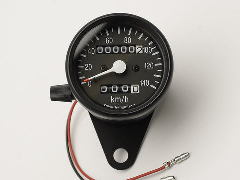 Speedo, 60mm, Black, Bulb-lit, KPH